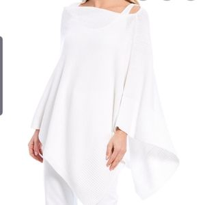 Eileen  Fisher white organic linen poncho 0S